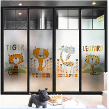 Static frosted glass stickers kindergarten decorative door film transparent opaque
