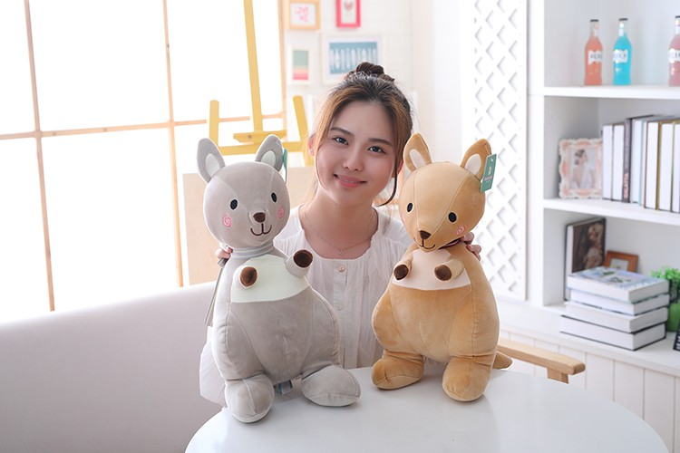 2019 Cartoon Plush Toy Kangaroo Stuffed Animal Soft Plush Doll Toys