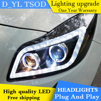 Car Styling For Buick New Regal headlight 2009-11 GS Style Opel Insignia 2014 2015 2016 head lamp led DRL front light Bi-Xenon