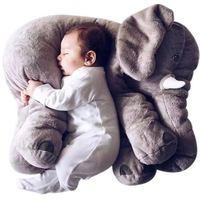 60cm 5colors Elephant Plush Soft Toy Stuffed Baby Toy Anminal Big Size Appease Baby Sleep Pillow