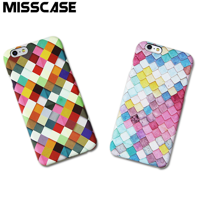 MISSCASE Cases for iphone 7 plus PC Plastic Hard Beautiful Painted Phone Cases for iPhone 6 6s plus 5 5s SE Protect Cover Cases
