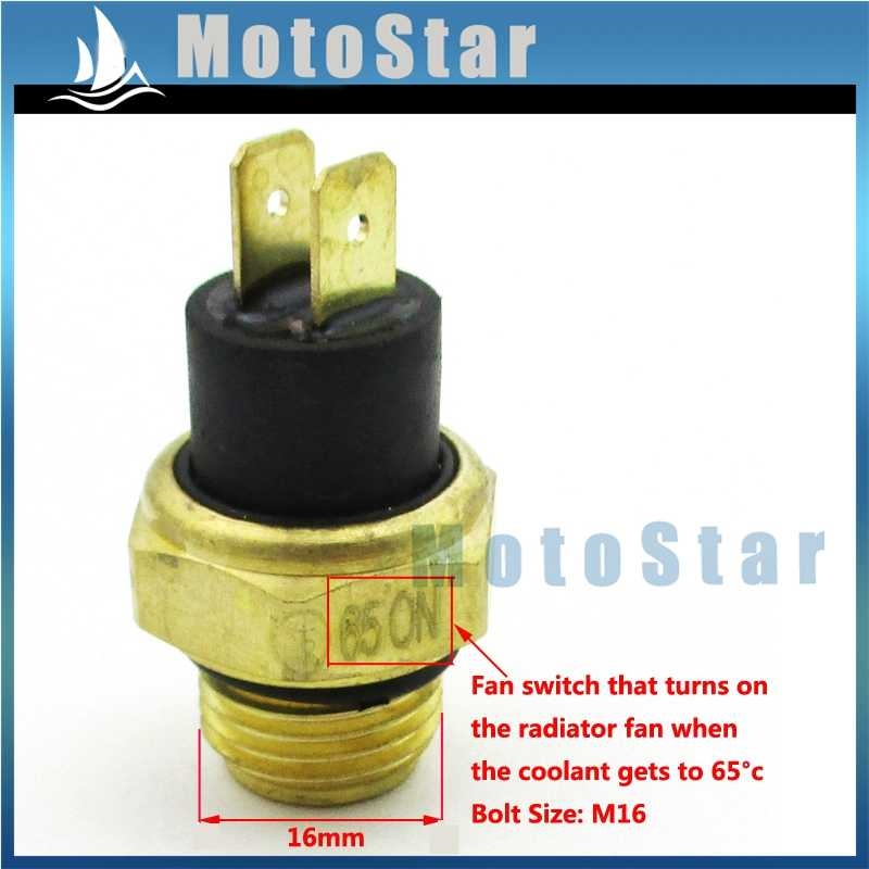 M16 ATV Radiator Thermal Cooling Fan Switch For 250cc Water Cooled Water Cooled Honda Moped Ignition Wiring Diagram on