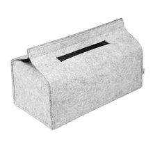 Шерстяное фетровое бумажное квадратное полотенце для хранения, автомобильная коробка для салфеток, контейнер, модный однотонный лоток, бытовой офисный насосный войлок