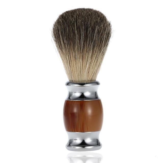 1pc pure badger hair shaving brush beard brush blaireau shave man cepillo para barba barber brosse barbe