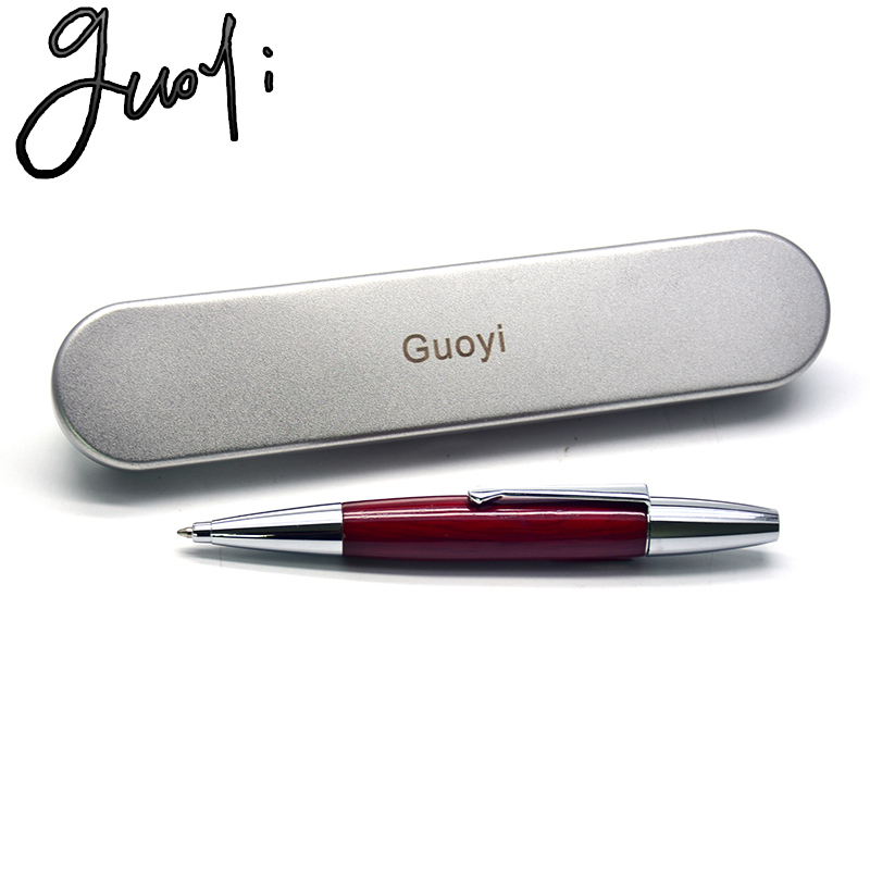 Guoyi A227 New G2 424 Wooden Ballpoint Pen Learning Office School Stationery High Quality Gift Luxury Hotel Business Pen