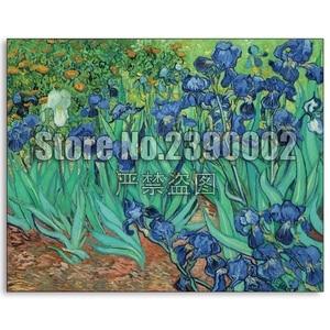 Ирисы 5D Diy Полная Алмазная картина крестиком Набор Мозаика садоводство и цветы Ван Гог подарки Алмазная вышивка домашний декор