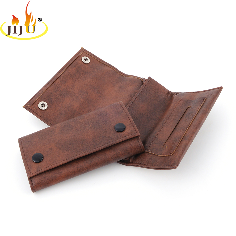 JIJU Leather Weed Pouch High Quality Grade Tobacco Herb Poucs