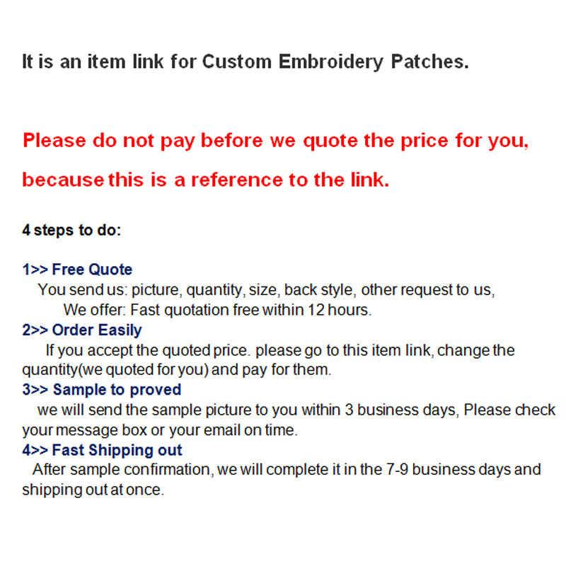 Envío Gratis, parche bordado personalizado con su logotipo, parches bordados personalizados, parche para planchar en la ropa con tela con apliques