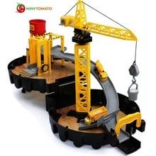 Ingyenes szállítás Engineer Cars Parkoló Orbit Car Dunk Track ABS spirál görgős vasúti Alloy Járművek Ajándék játékok gyerekeknek Legjobb ajándék