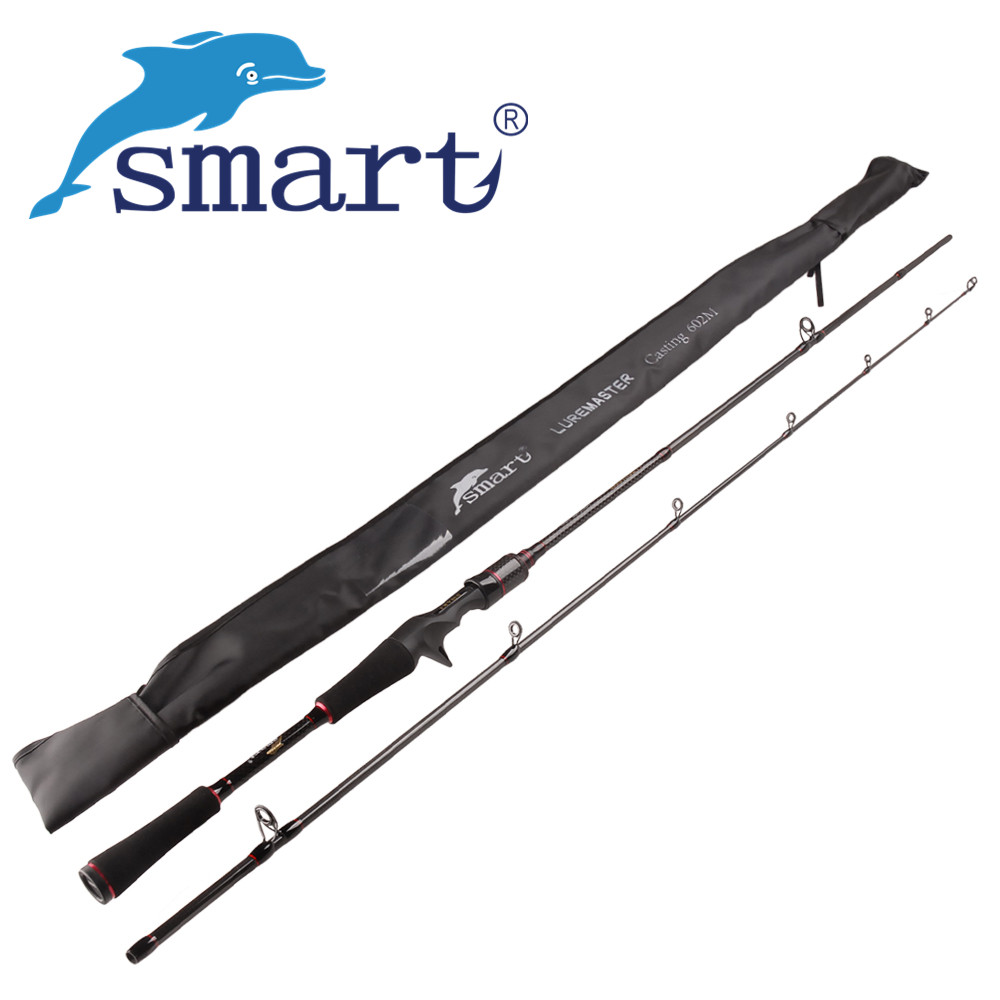 SMART 2Sec 1.8m/M Spinning/Casting Fishing Rod Carbon Lure Rods Stick Vara De Pesca Canne A Peche Bass Olta Fishing Tackle noeby 2section 1 8m 2 13m m ml casting fishing rod fuji rings and reel seat bass rod canne a peche varas de pesca para rios olta