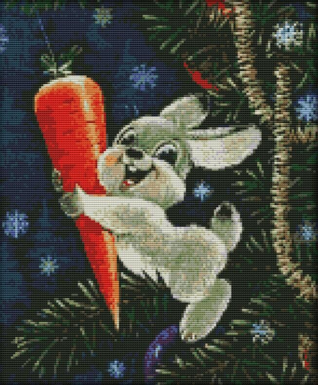Вышивка кролик с морковкой