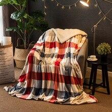 Winter Wool Blanket Ferret Cashmere Blanket Warm Blankets Fleece Plaid Super Warm Soft Throw On Sofa Bed 7A0808 все цены