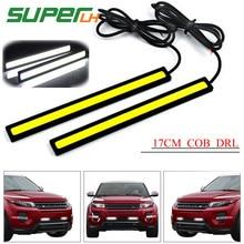 цена на 1Piece 17cm Universal COB DRL LED Daytime Running Lights Car Lamp External Lights Auto Waterproof Car Styling Led DRL Lamp