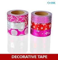 6 Rolls Set Star Foil Washi Paper Tape Set Purple Hot Stamping Washi Decorative Tape Set