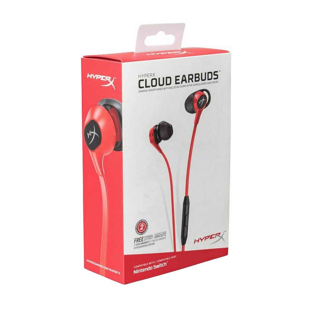 Kingston HyperX Cloud słuchawki zestaw słuchawkowy do gier 3.5mm z mikrofonem douszne wciągające dźwięk w grze dla telefonu komórkowego