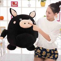 New Hot Bad Guys Always Die black pig doll plush toy Valentine's day gifts