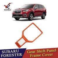 For Subaru Forester SK 2018 2019 Interior Accessory Gear Shift Box Panel Sticker Decoration Frame Cover Trim ABS Orange Color