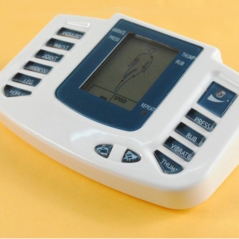 Digital Stimulator Massager Full Body Relax Pulse Acupuncture Therapy with Slipper Body Massager Acupuncture Massager hot electric slimming full body relax pulse muscle stimulator tens therapy machine massager vibrateur with 20pcs tens pads