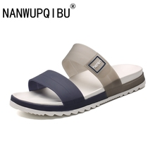 Sandals Men Summer Slippers Fashion Peep Toe Flip Flops Male Outdoor Non-slip Flat Beach Slides