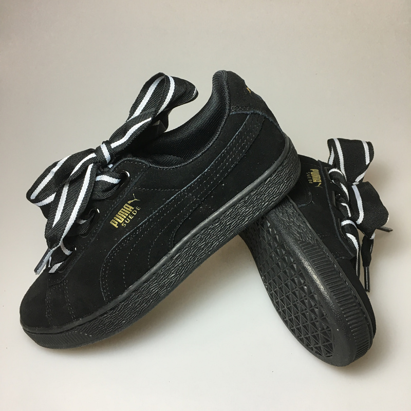 the best attitude e3d67 3e308 US $53.02 17% OFF|2018Original PUMA Basket Heart Patent Women's Sneakers  Suede Satin Badminton Shoes size 36 39-in Badminton Shoes from Sports & ...