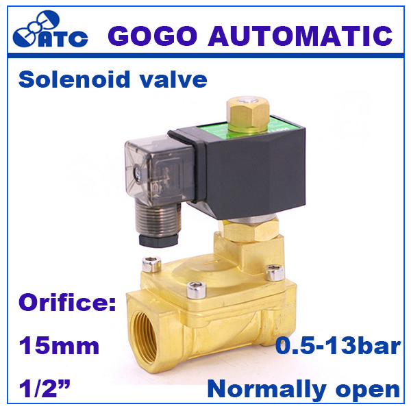 Gogo Normally Open 2 Way Pilot Diaphragm Brass Water