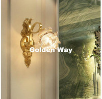 Hotsale European Style Modern Gold Bronze Crystal Wall Lamp Living Room, Dining Room, Aisle, Bedroom Wall Lamp Home Decoration