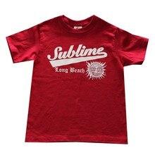e27018f62 Sublime Graphic Kids Tee Shirt Burgundy Funny Short Sleeve Cotton T-Shirt  New Arrival Men T Shirt New Men Lastest