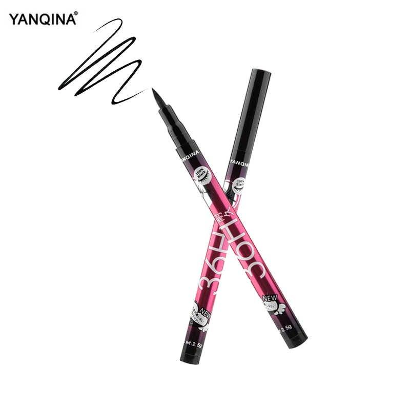 YAQINA 4 colores delineador de ojos lápiz impermeable líquido profesional de larga duración cosméticos delineador de ojos negro suave herramientas de maquillaje