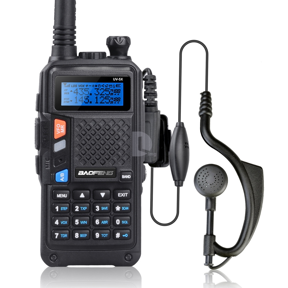 BAOFENG UV-5X Αναβαθμισμένη έκδοση Baofeng UV-5R UHF + VHF Διπλή ραδιοφωνική λειτουργία Walkie Talkie FM w / Original Main Board P0015842