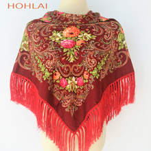 Square Scarf Women Hijabs Cotton Long Tassel (12 colors)