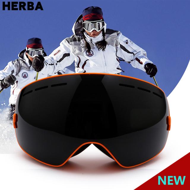Women Men Snowboard Skiing GlassesGogglesEyewearDouble Lens UV400 Anti-Fog