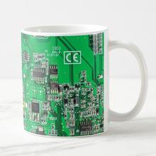 Green Computer Circuit Board Geek Coffee Mug Novelty Intergrated Circuit Beer Tea Cup Mugs Funny Creative Gift Xmas Ceramic 11oz