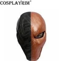Дезстроук Маска анфас Batman Arkham шлем Косплэй реквизит Хэллоуин вечерние маскарадный костюм аксессуаров ремесла