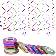 5pcs 10m*5mm Shiny Laser Curling Ribbon Roll Balloon Rope Wedding Christmas Birthday Party Decor DIY Streamer Supplies
