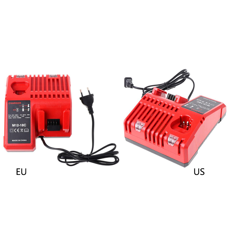For Milwaukee 10.8V 12V 18V M12 M18 48 - 11 - 24xx Series Lithium-ion Battery N12 M12-18C Li-ion Battery Charger Red 3pcs 12v lithium ion 1500mah power tool rechargeable battery with charger replacement for milwaukee m12 48 11 2401 48 11 2402 page 5