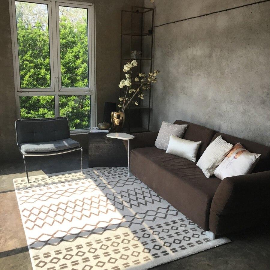 nordic schwarz weiß wohnzimmer flur teppich geometrische indische
