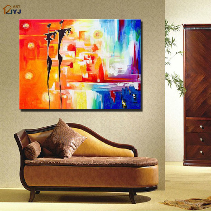Direct from JYJ Artist Canvas Wall Art 100% Hand Painted Modern Abstract Oil Painting for Home Decor Gift No Frame JYJS001