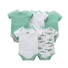 2018 summer outfits set / 5 pcs infant baby bodysuits Carters design