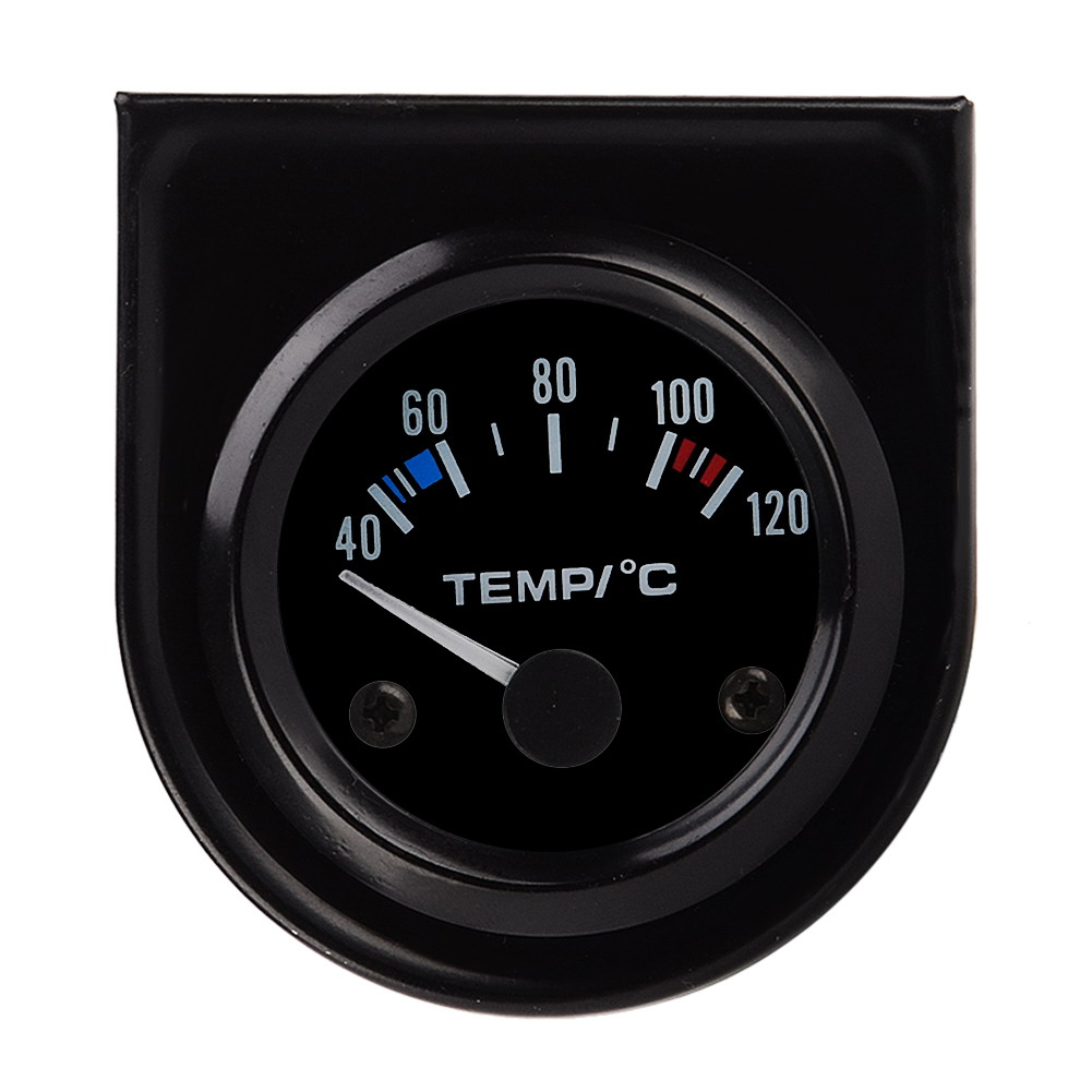 Sensitivitas tinggi 2 Inch DC12V Car Pointer Suhu Air Temp Gauge 40-120 Celcius mengukur mobil