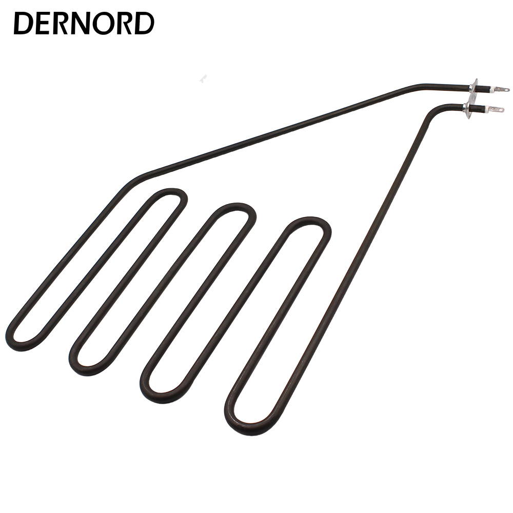 DERNORD 230v 2000w Electric Tubular Heating Element Sauna Heater Element Stainless Steel Air Heating Pipe
