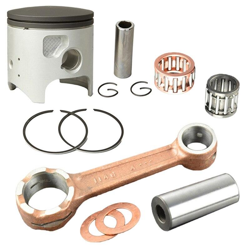 Motorcycle Engine Parts 66mm Connecting Rod + Piston Ring Kit for Kawasaki KDX200 KDX 200 1989 2005 Pistons Rings & Conrod