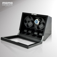 Wooden Watch Winder Box For 4 6 Automatic Watches Storage Display With TPD Mode And Door