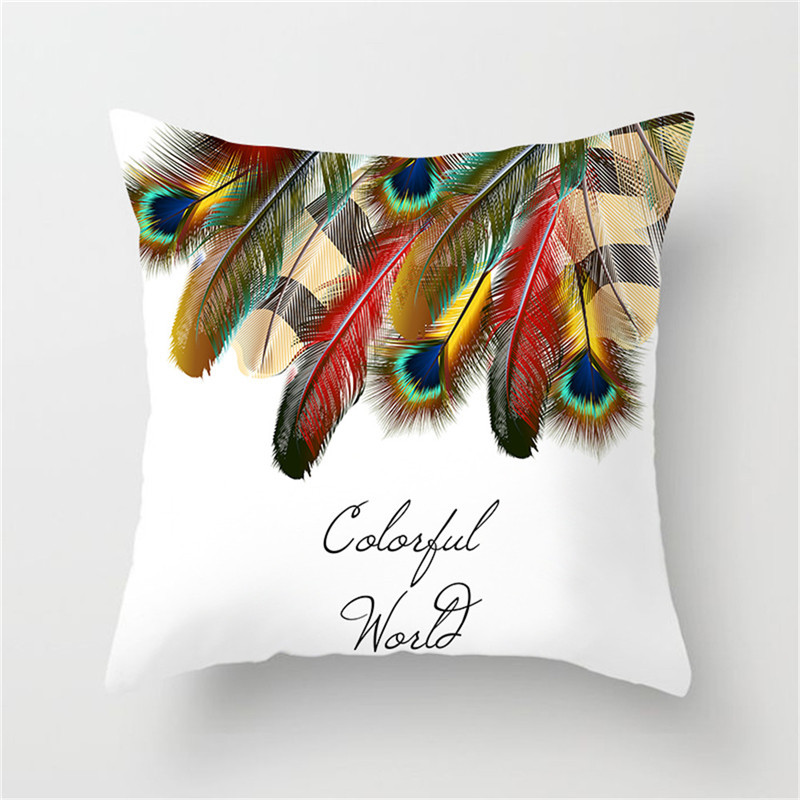 Fuwatacchi Indian Style Printed Cushion Cover Feather Throw Pillow Cover Arrow Decorative Pillows Case for Home Sofa kussenhoes in Cushion Cover from Home Garden