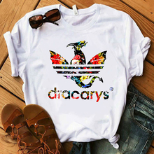 Camiseta Dracarys T shirt Women Mother of Dragon Print White T-shirt Harajuku TShirt Vogue Tops Tee Shirt Femme Summer