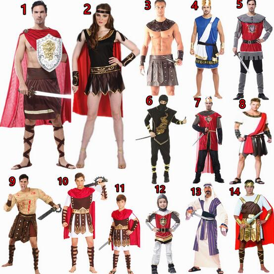 Brand Men Women Costumes Ancient Rome Nobility Cosplay Clothing Unisex Halloween Couple Warrior Greek