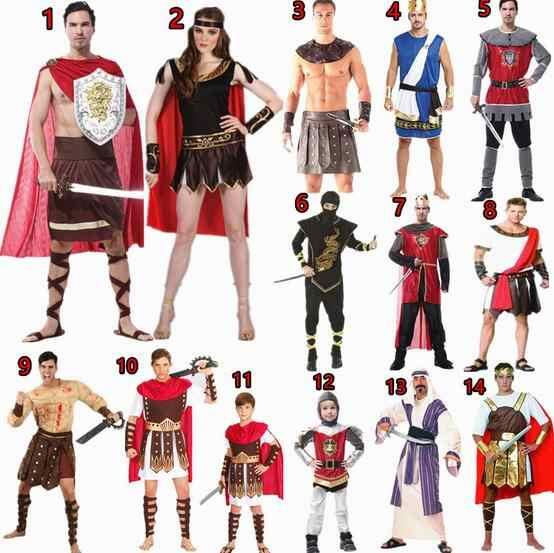 c591821c9 Disfraces de marca para hombres y mujeres, la nobleza de Roma antigua, ropa  de Cosplay, disfraces Unisex de pareja de Halloween, disfraz de guerrero ...