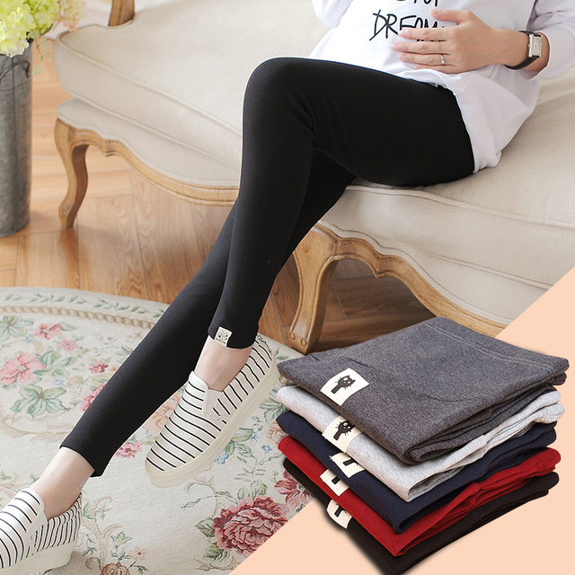 New Maternity Leggings for Pregnant Women Pants Elastic Hight Waist Pregnant Leggings Maternity Clothes Pregnancy Trousers B180
