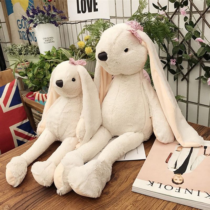 Fancytrader Giant Stuffed Plush Rabbit Toys Big Soft Anime Bunny Pillow Doll 70cm 28inch Gifts for Children fancytrader giant soft bunny plush toy big anime stuffed rabbit toys doll pink blue 110cm for children birthday christmas gifts