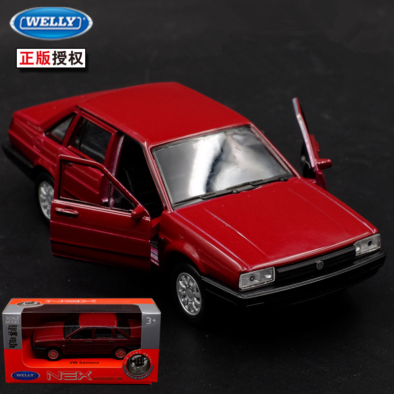 1:36 12cm New Welly Volkswagen VW Santana Classics Car