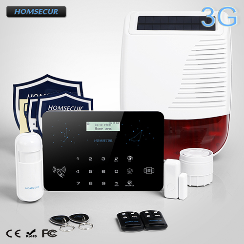 HOMSECUR Wireless LCD 3G Telphone Line SMS Autodial Home Security font b Alarm b font System